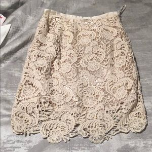 Like new! Forever 21 Nude lace skirt (size S)